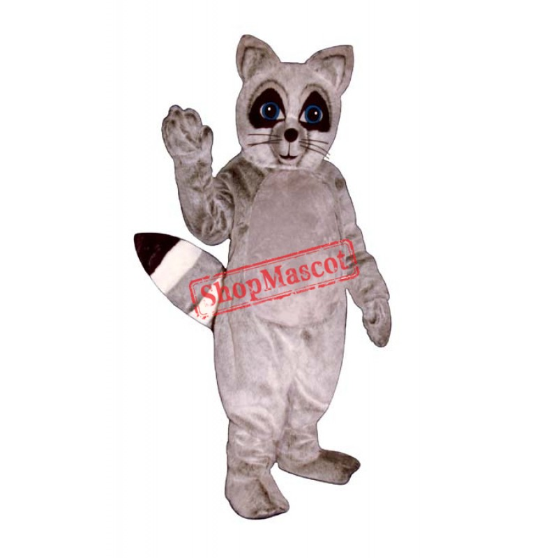 Gray Raccoon Mascot Costume