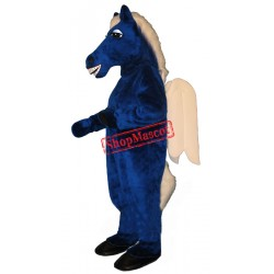 Blue Pegasus Unicorn Mascot Costume