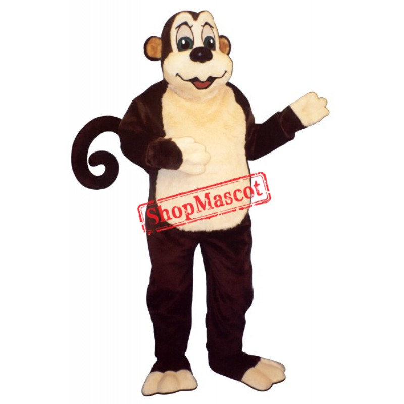 Zoo Monkey w-Wire Tail Monkey Mascot Costume