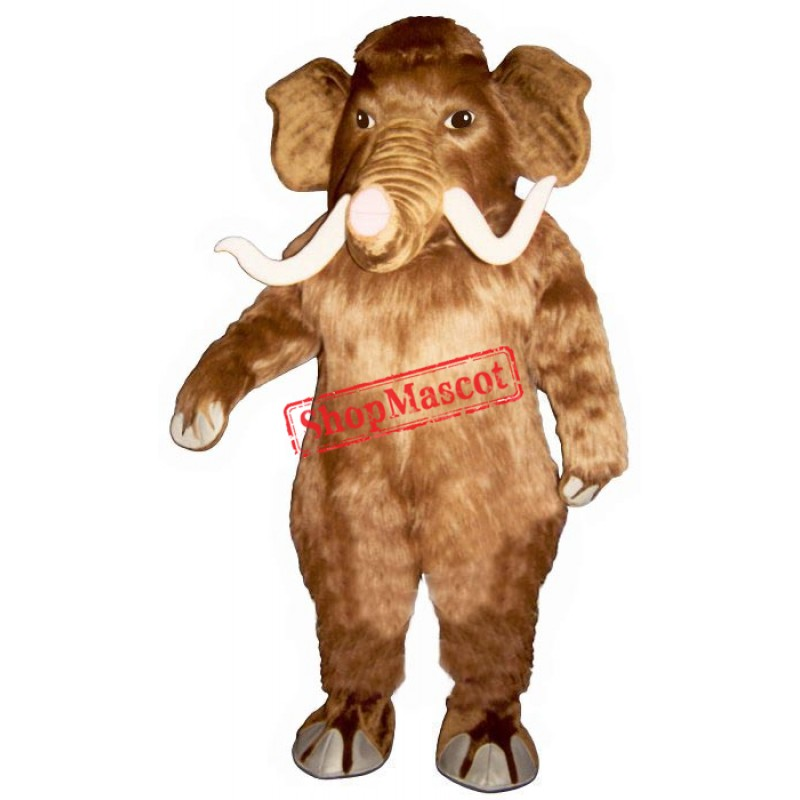 Mammoth with Long Tusks Mascot Costume
