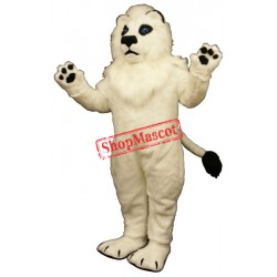 White Lion Mascot Costume