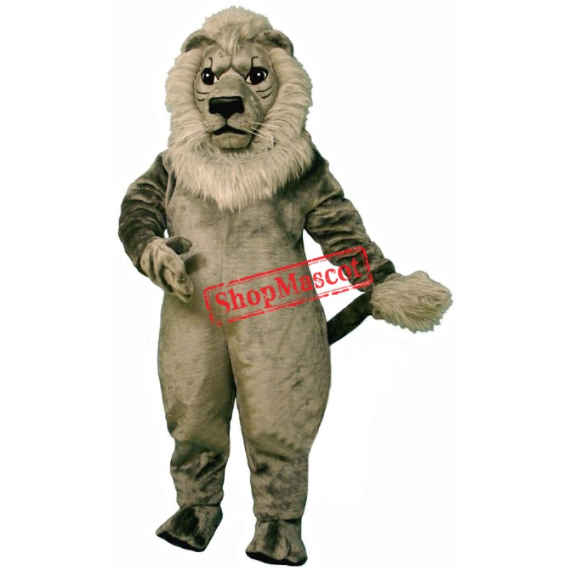 Old Grey Lion Mascot Costume