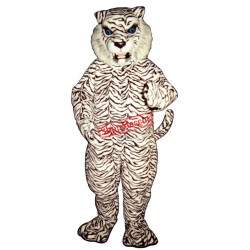 Blue Eyed White Tiger Mascot Costume