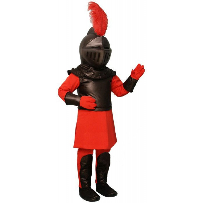 Cute Red Knight Mascot Costume