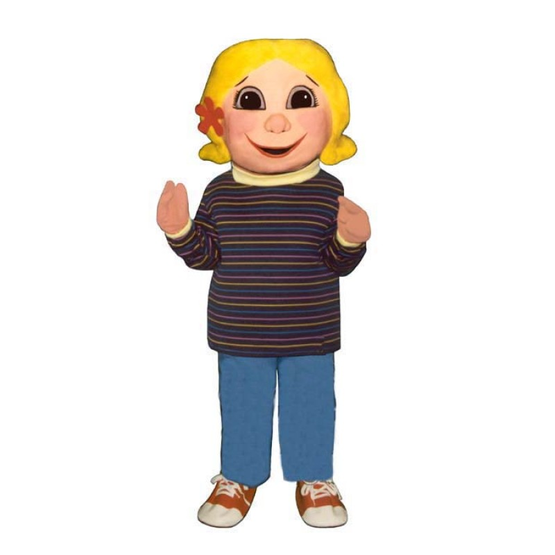 Yellow Hair Girl Mascot Costume