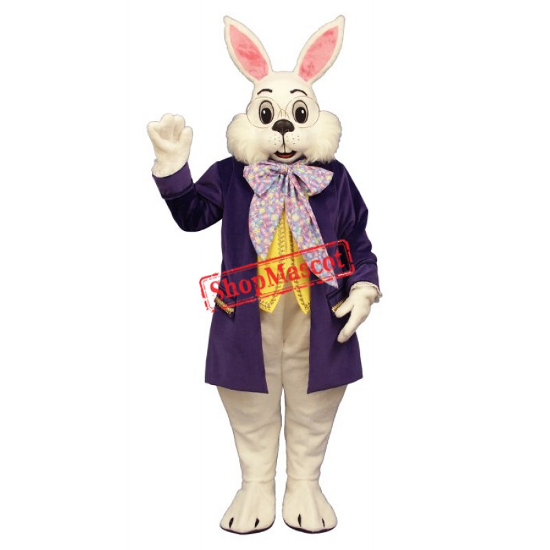 Wendell Rabbit-Purple Mascot Costume