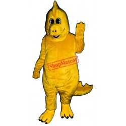 Cute Yellow Dinosaur Mascot Costume