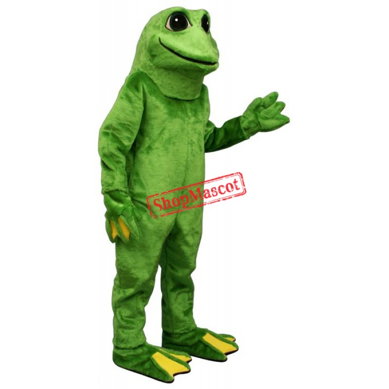 Yellow Toed Frog Mascot Costume