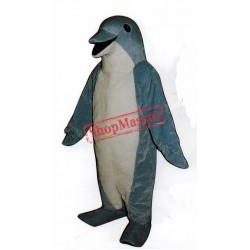 Light Blue Dolphin Mascot Costume