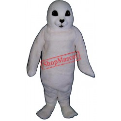 White Baby Seal Mascot Costume