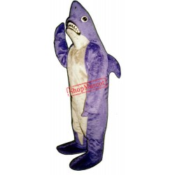Purple Shark Mascot Costume