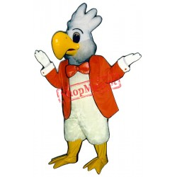 Cockatoo Jacket Bowtie Mascot Costume