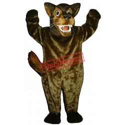 Mean Wolf Mascot Costume