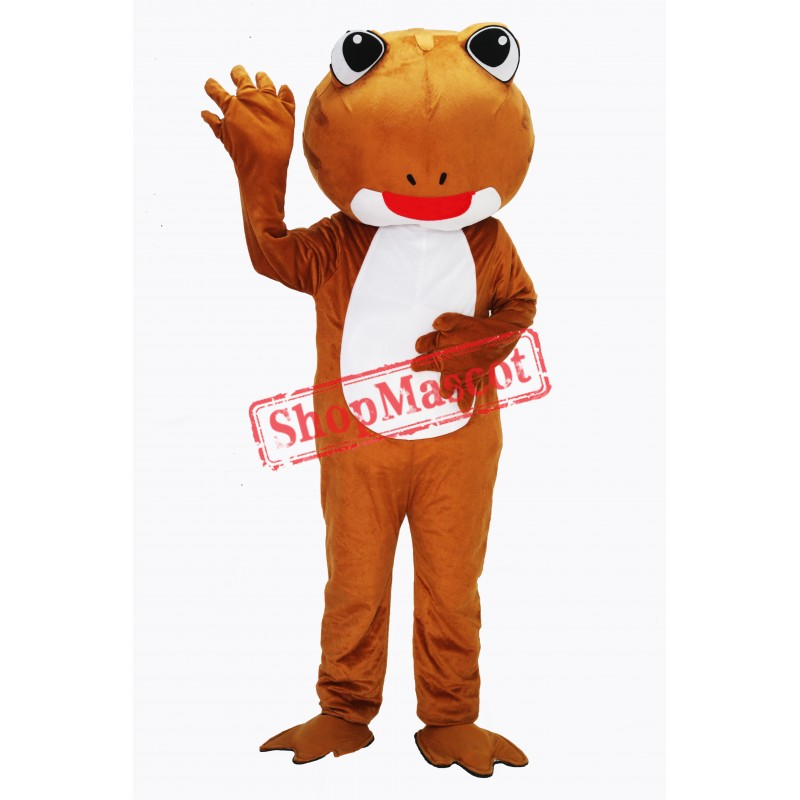 Brown Frog Mascot Costume Free Shipping