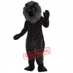 Old Black Lion Mascot Costume