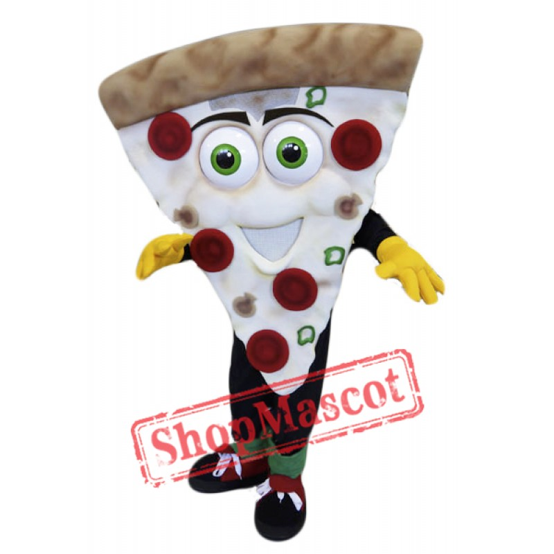 Smiling Pizza Mascot Costume