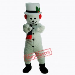 New Extra Round Snowman w Hat Scarf Mascot Costume