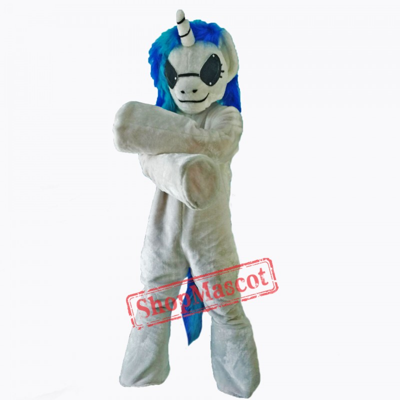 Blue Unicorn Lightweight Mascot Costume