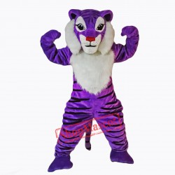 Purple Tiger Mascot Costume