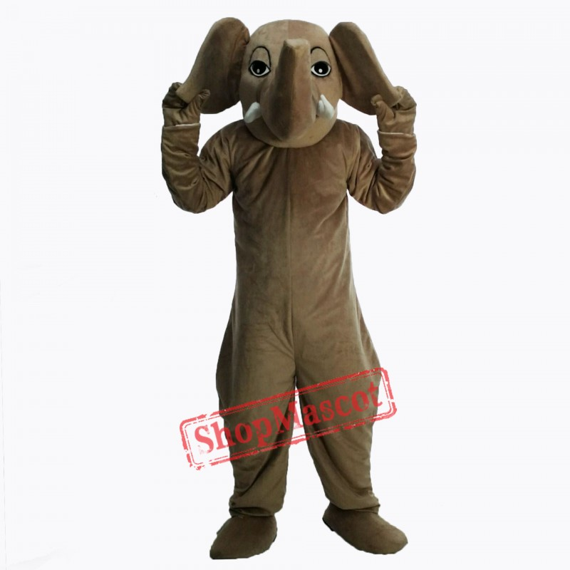 Brown Elephant Masot Costume Free Shipping