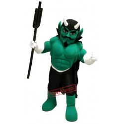Green Devil Mascot Costume