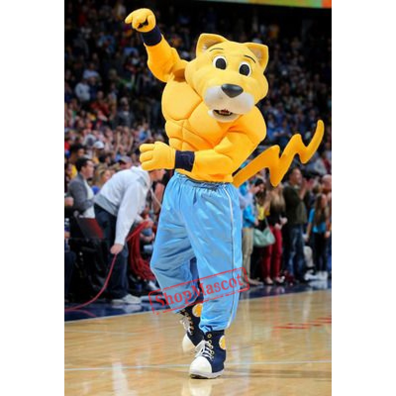 Rocky The Mountain Lion Mascot Costume
