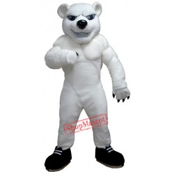 Power Polar Bear Mascot Costume