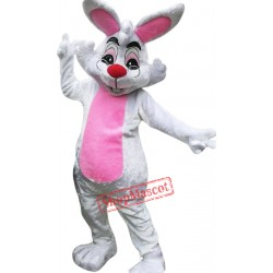 Glasses Easter Bunny Mascot Costume