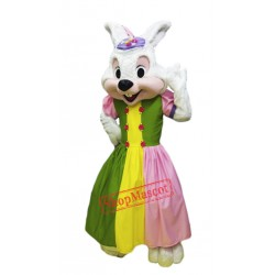 Girl Easter Bunny Mascot Costume