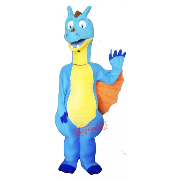 Blue Dragon Mascot Costume Adult Costume