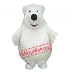 Giant Big Fat Polar Bear Mascot Costume