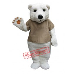 Cute Polar Bear Mascot Costume Free Shipping
