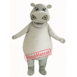 Big Fat Grey Hippo Mascot Costume