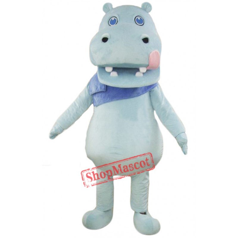 Light Blue Hippo Mascot Costume