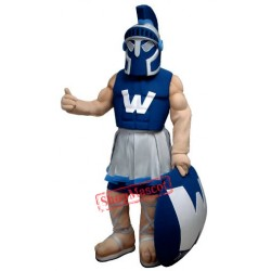 Blue Power Warrior Mascot Costume