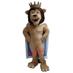 Power Muscular Lion Mascot Costume