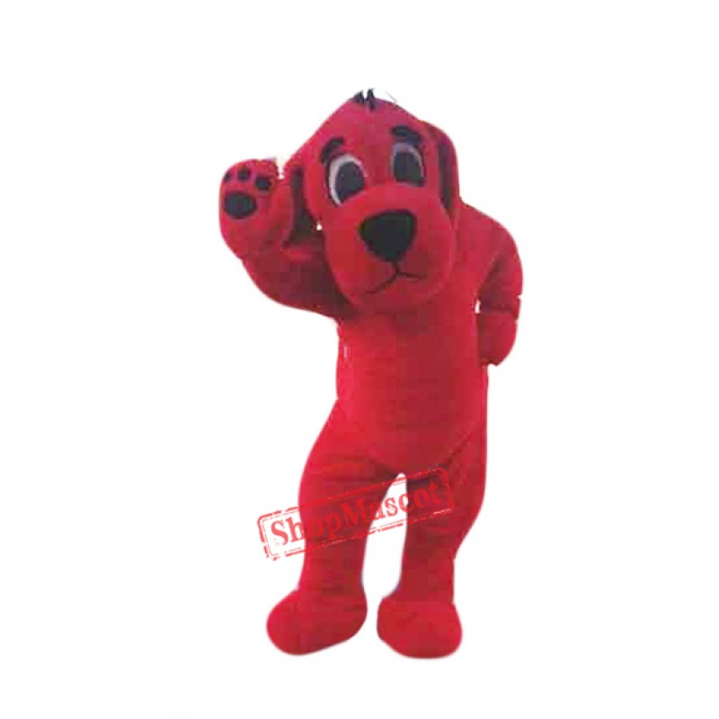 Big Red Dog Mascot Costume