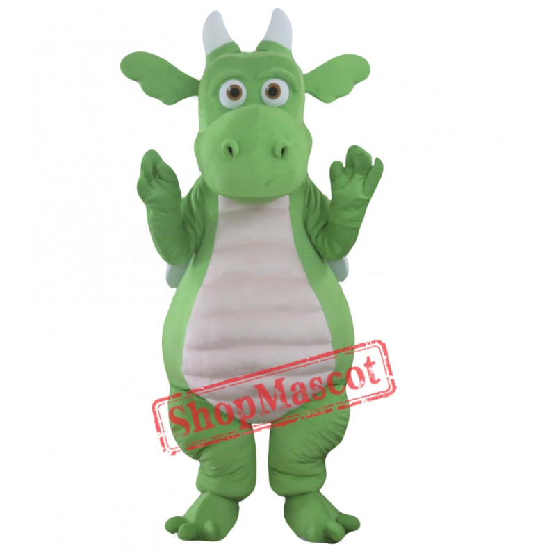Green Adult Dragon Mascot Costume
