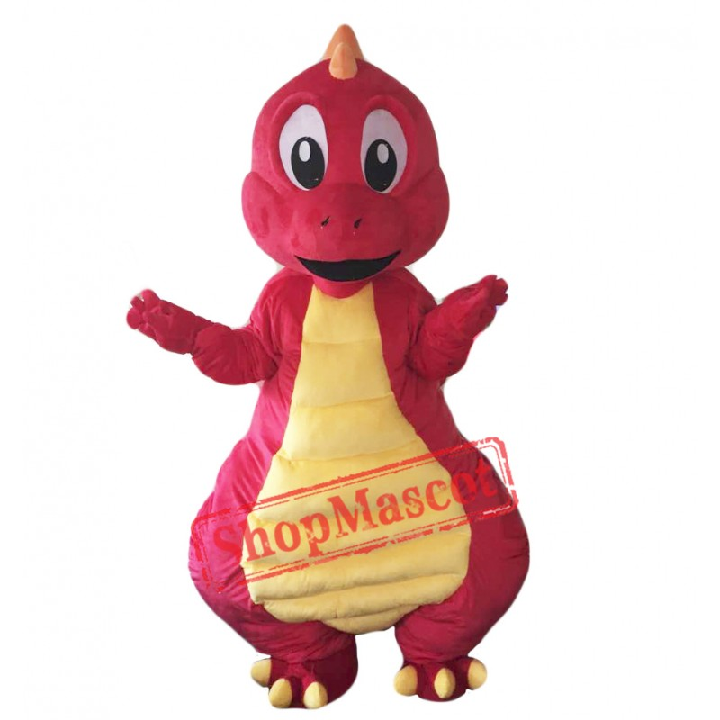 Red Dinosaur Mascot Costume