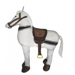 2 Person White Horse Mascot Costumes