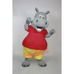 Cute Animal Hippo Mascot Costume