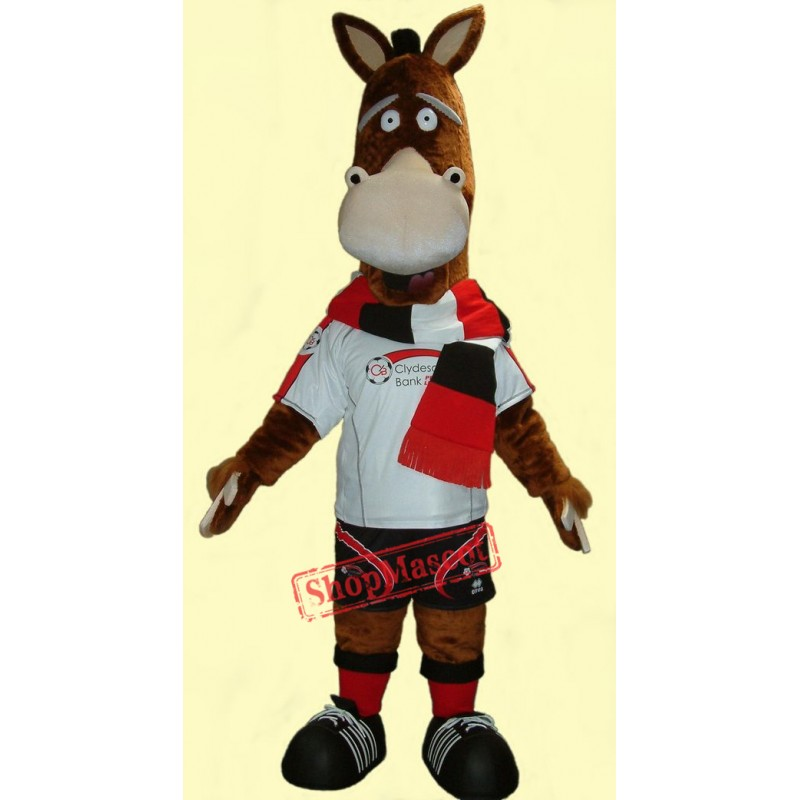 Cute Adult Horse Mascot Costume