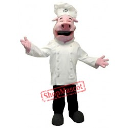 Cute Chef Pig Mascot Costume