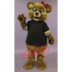 Cute Female Brown Bear Mascot Costume