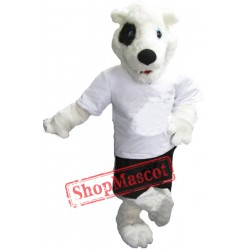 Cute White Bear Mascot Costume