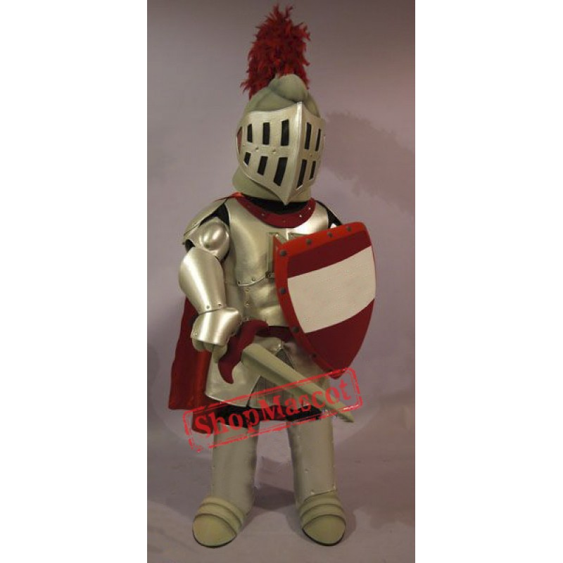 Red & Golden Knight Mascot Costume
