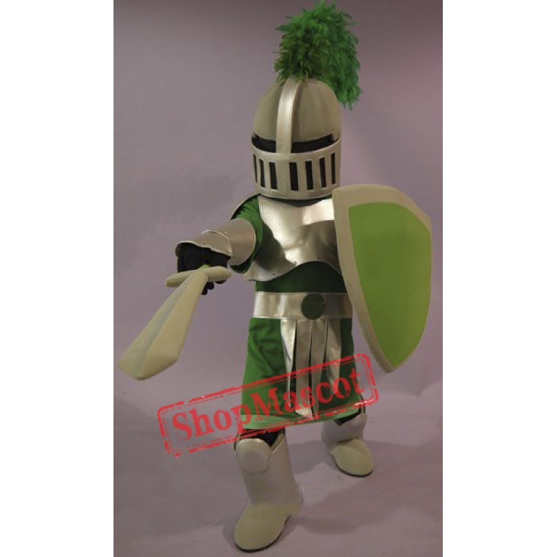 Green & Golden Knight Mascot Costume