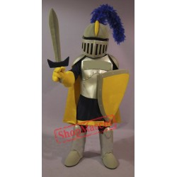 Yellow & Golden Knight Mascot Costume