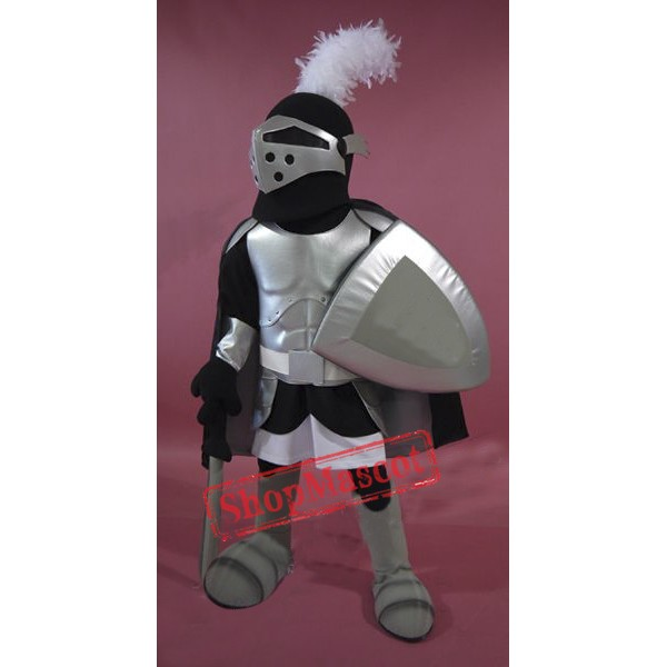 Silver Knight Mascot Costume Free Shipping