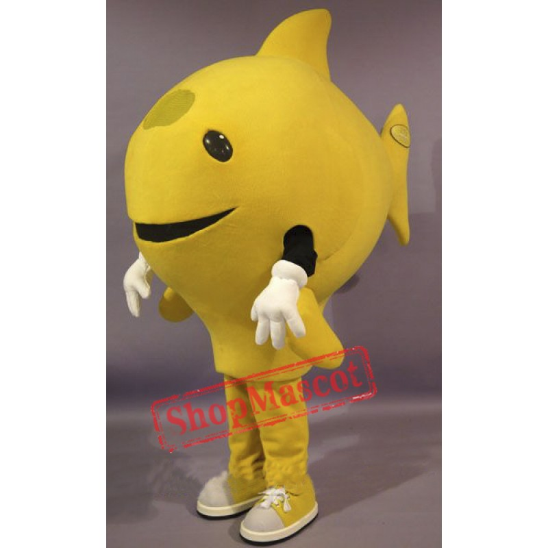 Yellow Fish Mascot Costume